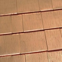 Oxford Shingle Metal Roof - Solid Copper