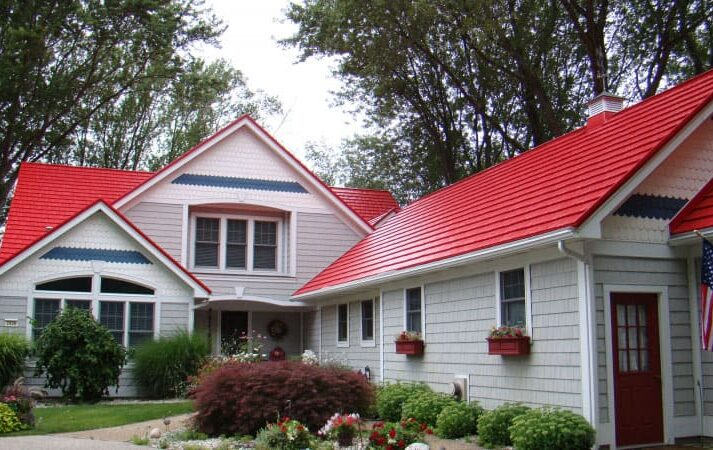 Rustic shingle product information for Metal roof houses pictures