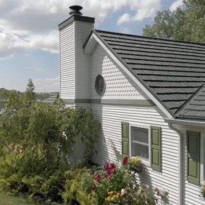 Great American Shake Metal Roof - Forest Green